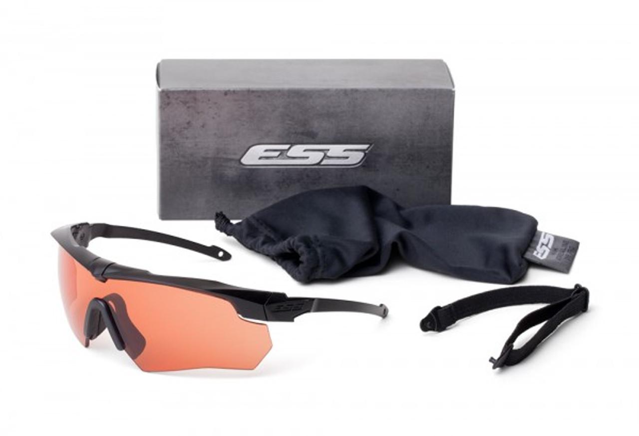 05d52f5f97c ESS Crossbow Suppressor Safety Glasses Black Frame HD Copper Lens
