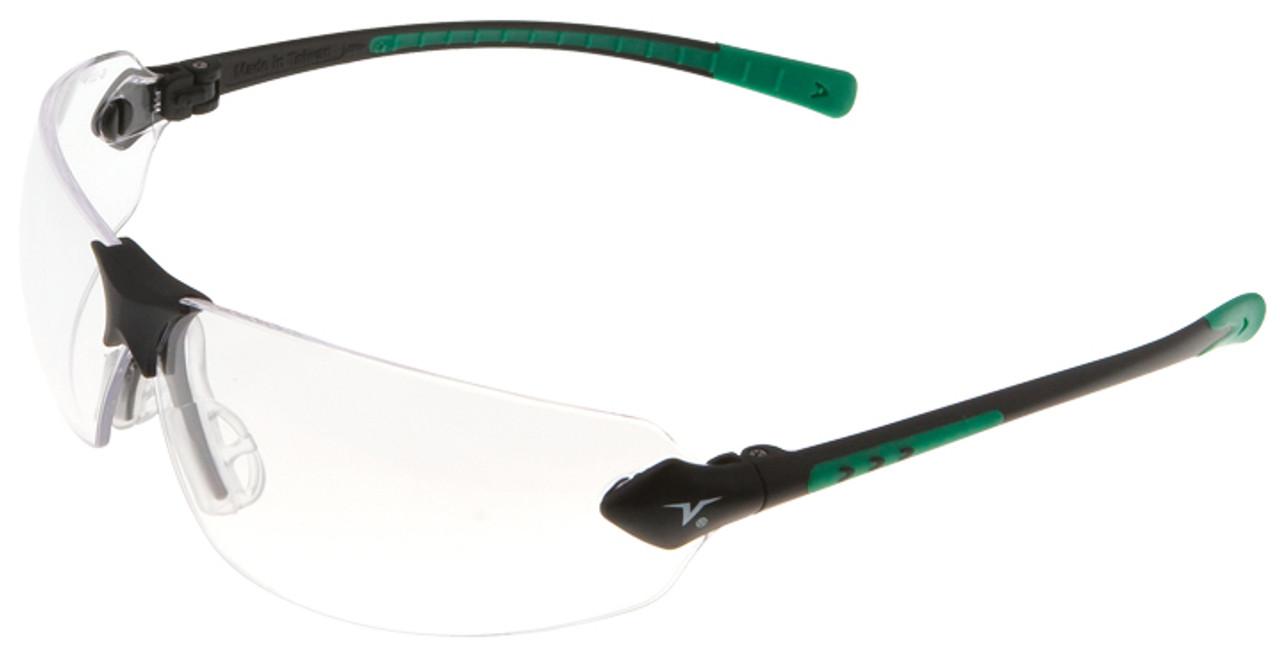 Encon Veratti 429 Safety Glasses with Green Temple Accent and Clear  Anti-Fog Lens ecda4e838a60