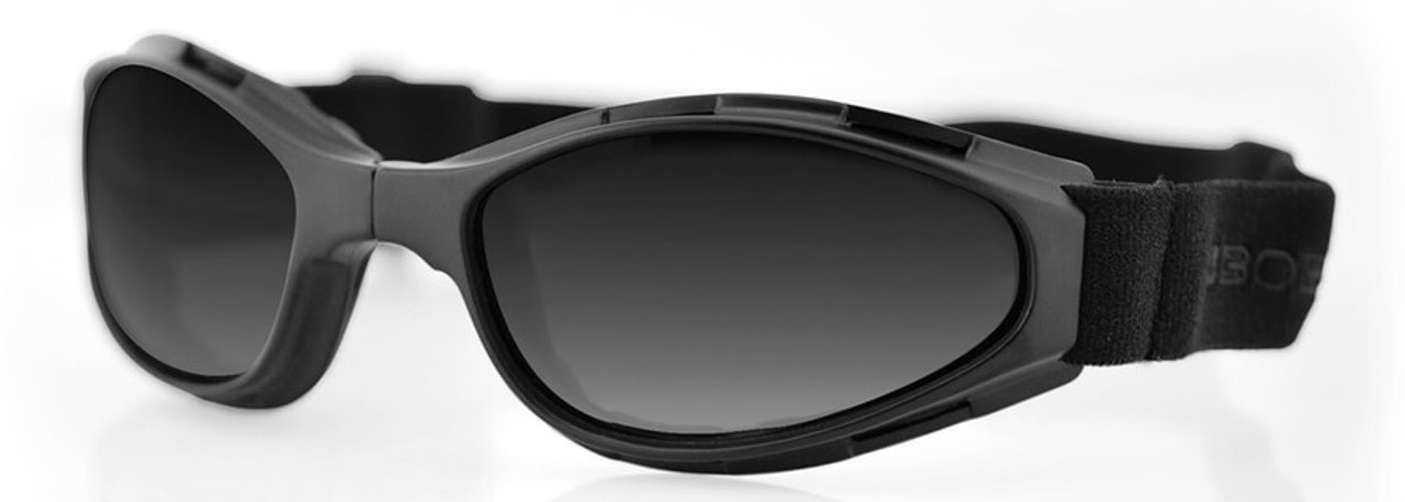 "Bobster Black w// Clear Lens /""Frameless/"" Shield II Motorcycle Riding Sunglasses"