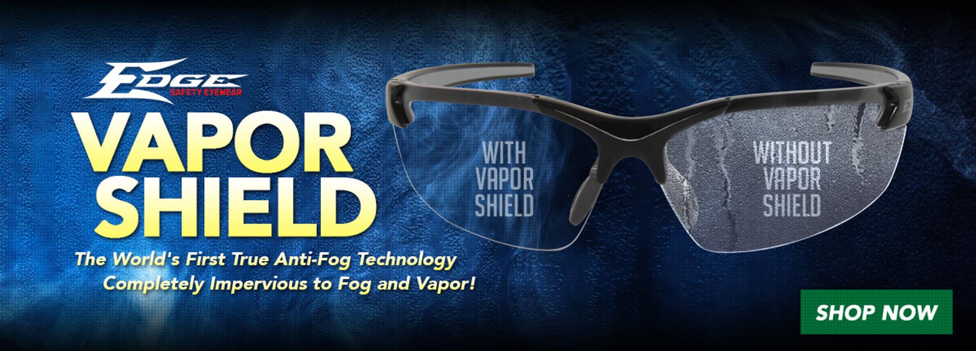 Edge Eyewear Vapor Shield Anti-Fog Safety Glasses