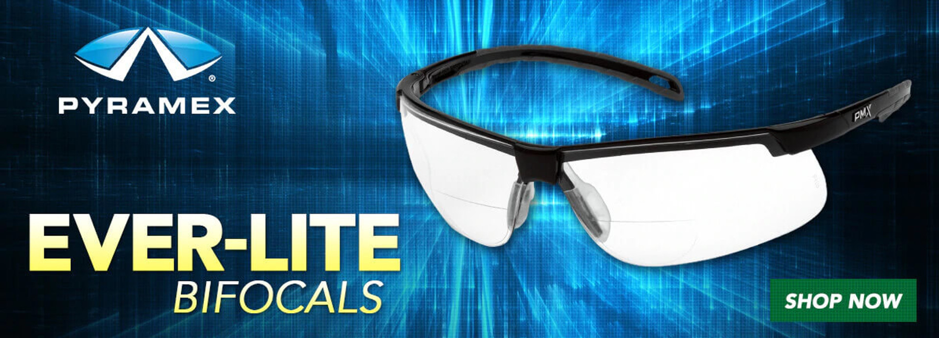 Pyramex Ever-Lite Readers Bifocal Safety Glasses