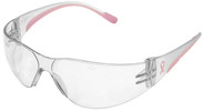 422009bc97a3 Bouton Eva Petite Women s Safety Glasses with Pink Temple Trim and Clear  Hard Coat Lens