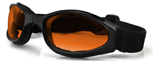 Bobster Crossfire Folding Goggle with Black Frame and Amber Lens