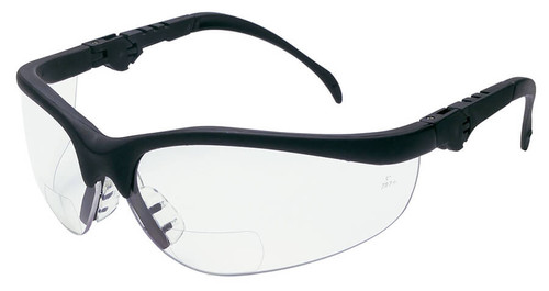 Crews Klondike Magnifiers Bifocal Safety Glasses With Clear Lens