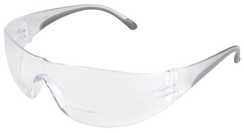 Bouton Zenon Z12R Bifocal Safety Glasses with Black Temple Trim and Clear Lens