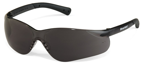 Crews Bearkat 3 Safety Glasses with Gray Lenses and Soft Gel Nose Pad