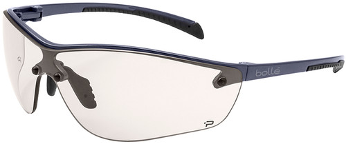 Bolle Silium Plus Safety Glasses with Graphite Colored Frame and CSP Anti-Fog Lens
