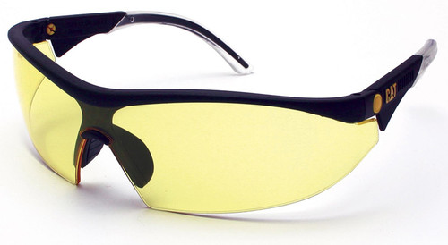 CAT Digger Safety Glasses with Black Frame and Yellow Lens