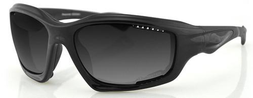 Bobster Desperado Sunglasses with Black Frame and Smoke Lenses