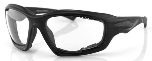 Bobster Desperado Glasses with Black Frame and Clear Lenses
