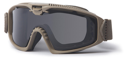 ESS Influx Ballistic Goggle with Terrain Tan Frame and Clear and Smoke Lenses