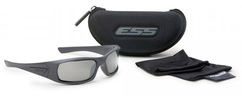 340ee190e04 ... ESS 5B Ballistic Sunglasses with Black Frame and Mirror Lenses ...