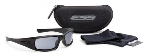 3816a101645e ... ESS 5B Ballistic Sunglasses with Black Frame and Smoke Gray Lenses ...