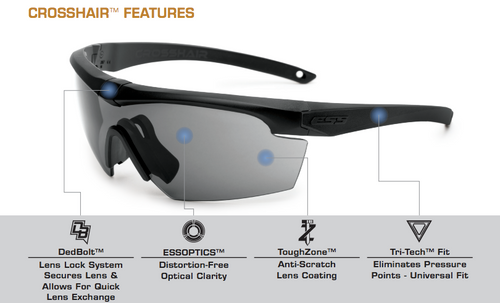 dc761a1a013 ... ESS Crosshair Safety Glasses Key Features