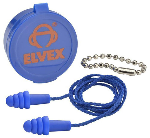 Elvex Quattro Corded Earplugs with Case NRR-25 EP-412