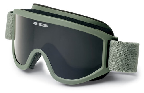 ESS Land Ops Goggle Foliage Green with Clear and Gray Lenses and Stealth Sleeve