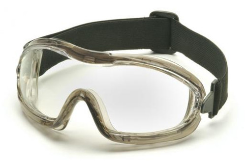 Pyramex Low Profile Splash Goggles with Translucent Frame and Clear Anti-Fog Lens G704T