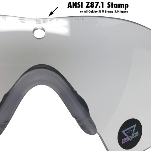 0c3422f298b ... Oakley SI Ballistic M Frame 3.0 Array with Black Frame and Clear and  Grey Lenses ...