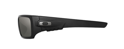 a6431fd795 ... Oakley SI Ballistic Det Cord with Matte Black Frame and Grey Lens -  Side ...