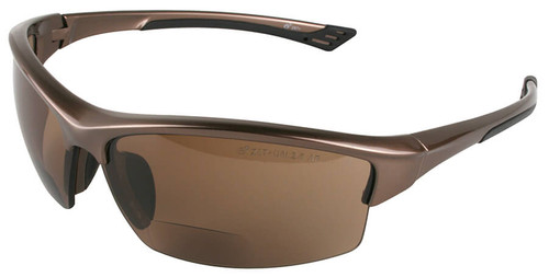 Elvex Sonoma RX-350 Bifocal Safety Glasses with Brown Lens