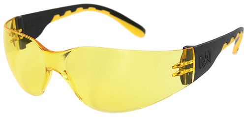 CAT Track Safety Glasses with Black Frame and Yellow Lens