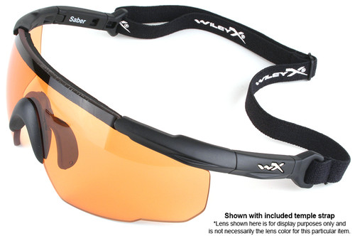 8117f7e640b ... Wiley X Saber Advanced Ballistic Safety Glasses with Matte Black Frame  and Clear Lenses
