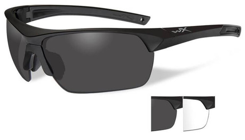 Wiley X Guard Advanced Ballistic Safety Glasses Kit with Matte Black Frame and Smoke Grey and Clear Lenses