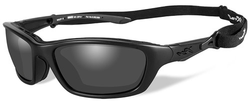 Wiley X Brick Black Ops Sunglasses with Matte Black Frame and Smoke Grey Lens