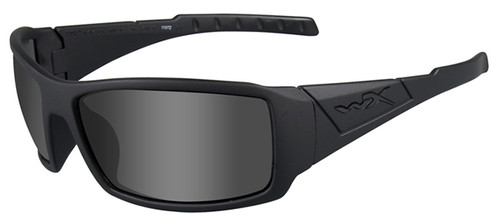 Wiley X Twisted Black Ops Safety Sunglasses with Matte Black Frame and Smoke Grey Lens
