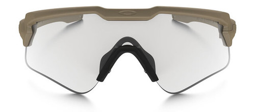 9b1162161f ... Oakley SI Ballistic M Frame Alpha Sunglasses with Terrain Tan Frame and  Clear and Gray Lens ...