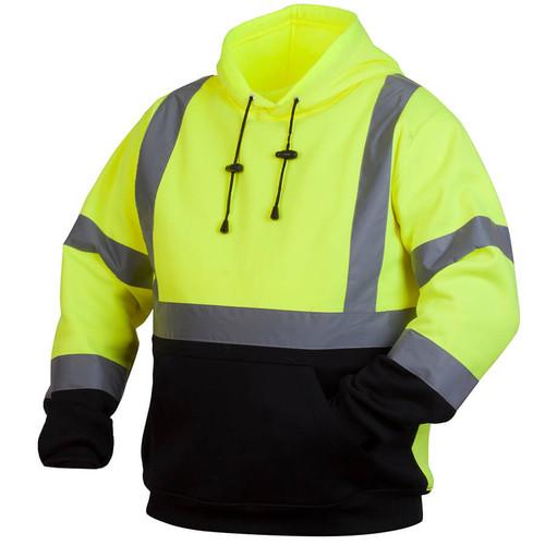 Pyramex Lumen-X RSSH32 Class 2 Hi-Viz Lime Pullover Safety Sweatshirt