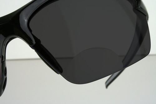0d053942afb ... Edge Zorge G2 Bifocal Safety Glasses with Black Frame and Smoke Lens  with +2.00 Diopter