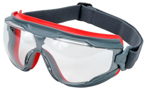 3M GoggleGear 500 with Gray Frame and Clear Scotchgard Anti-Fog Lens