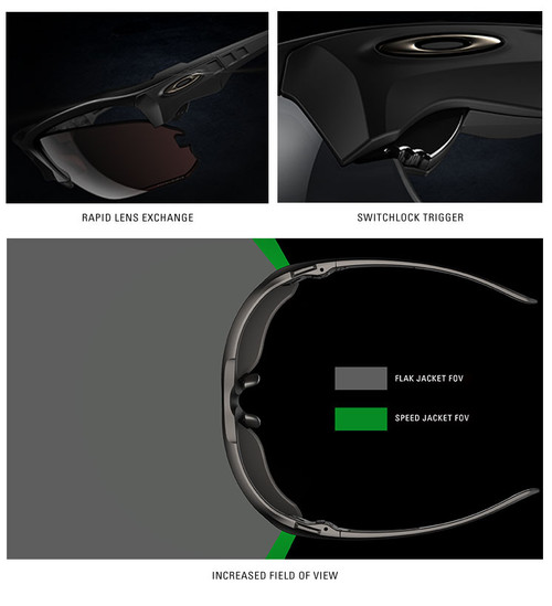 5e778f2df46 Oakley SI Speed Jacket Safety Sunglasses with Matte Black Frame and Prizm  Deep Water Polarized Lens