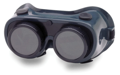 Crews 28550 Welding Goggle with Green Frame and Round Stationary 50mm Lenses with IR Shade 5.0 Filter