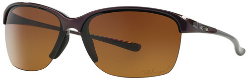 Oakley Unstoppable Sunglasses with Raspberry Spritzer Frame and Brown Gradient Polarized Lens