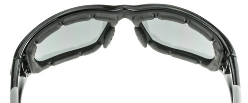 a81488ad8f ... Crossfire MP7 Foam Lined Safety Glasses with Shiny Black Frame and Dark  Smoke Anti-Fog ...