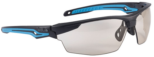Bolle Tryon Safety Glasses with Black & Blue Frame and CSP Platinum Anti-Fog Lens