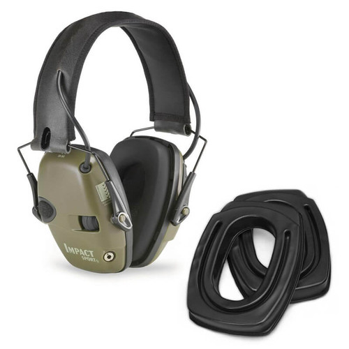 SightLines Ear Cushions & Howard Leight Earmuff Bundle OD Green