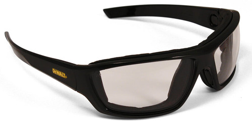 DeWalt Converter Safety Glasses/Goggles with Black Frame and Indoor-Outdoor Anti-Fog Lens