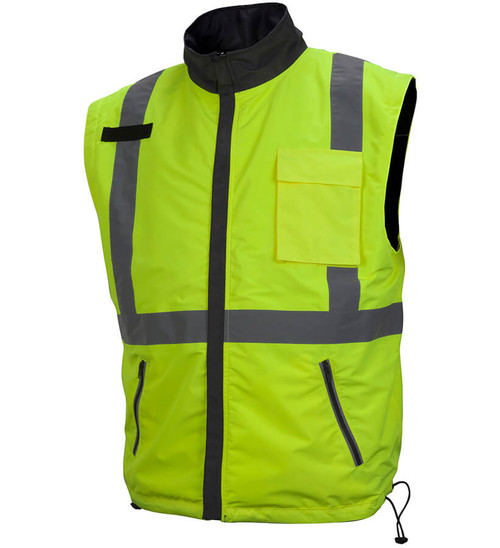 189f6ebce01 ... Pyramex RJR34 Reversible Class 3 Hi-Viz Lime 4-In-1 Safety Jacket ...