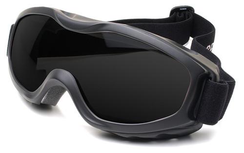 Guard Dogs Evader 2 Safety Goggles with Matte Black Frame and Smoke AF Lens