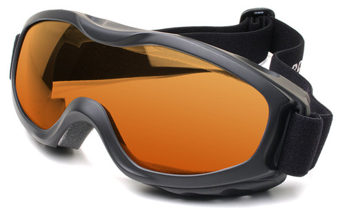 Guard Dogs Evader 2 Safety Goggles with Matte Black Frame and Amber Anti-Fog Lens