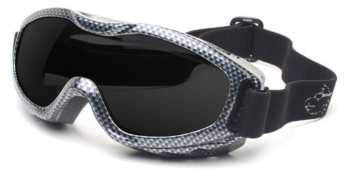 Guard Dogs Evader 2 Safety Goggles with Carbon Fiber Frame and Smoke Anti-Fog Lens