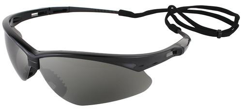 Jackson Nemesis Safety Glasses with Black Frame and Smoke Mirror Lens 25688