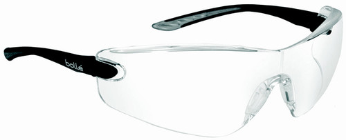 Bolle Cobra Safety Glasses with Black Temples and Clear Anti-Scratch and Anti-Fog Lens