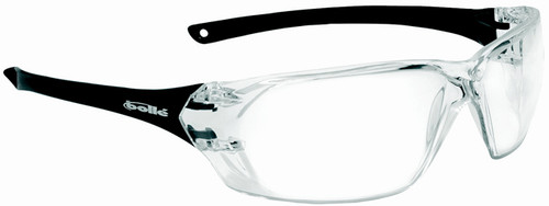 Bolle Prism Safety Glasses with Black Temples and Clear Anti-Fog Lens