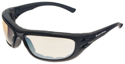 Guard Dogs G100 Safety Glasses/Goggle with Black Frame and Indoor/Outdoor Anti-Fog Lenses