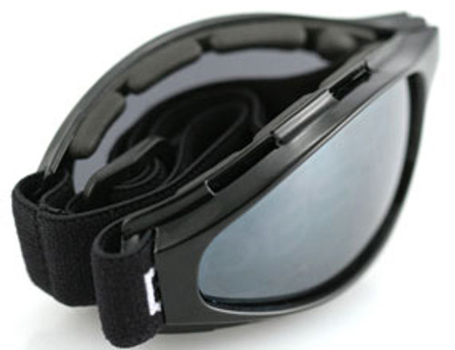 e537d5e85c5 Bobster Crossfire Folding Goggle with Black Frame and Smoke Lens