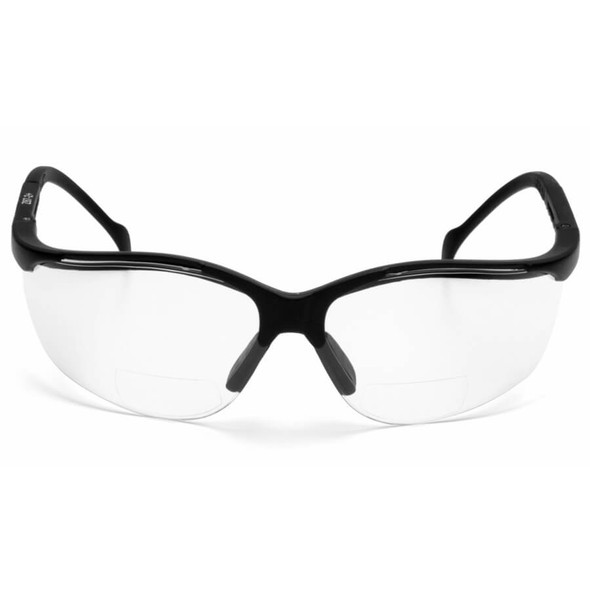Pyramex V2 Reader Bifocal Safety Glasses with Clear Lens - Front